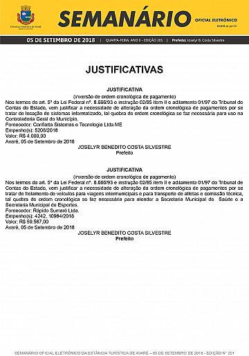 Semanário Oficial - Ed. 201