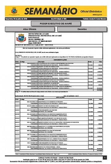 Semanário Oficial - Ed. 385