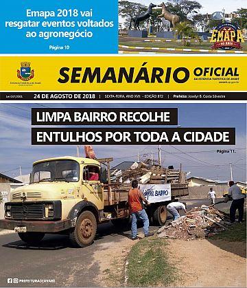 Semanário Oficial - Ed. 872