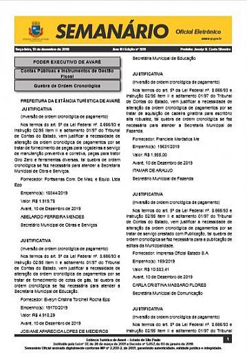 Semanário Oficial - Ed. 509