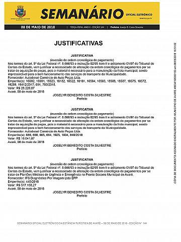 Semanário Oficial - Ed. 144