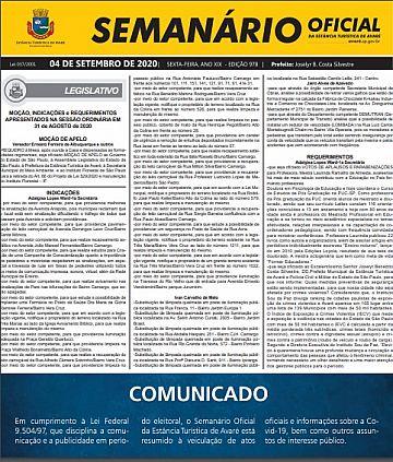 Semanário Oficial - Ed. 978