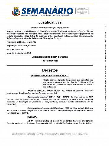 Semanário Oficial - Ed. 51