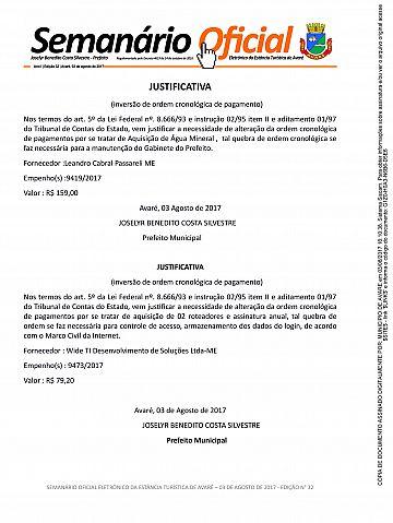 Semanário Oficial - Ed. 32