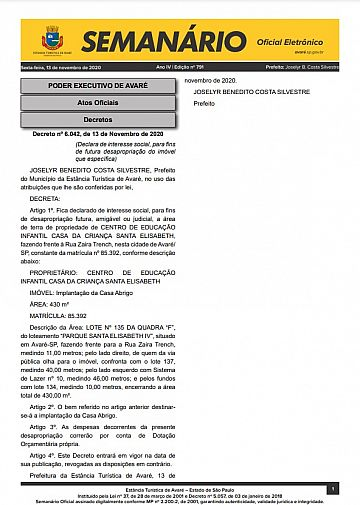 Semanário Oficial - Ed. 791