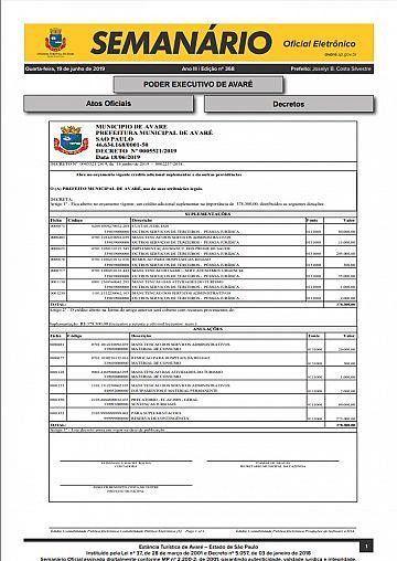 Semanário Oficial - Ed. 368