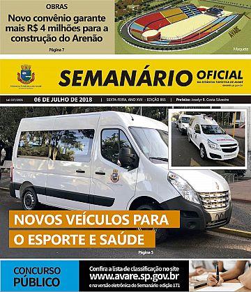 Semanário Oficial - Ed. 865