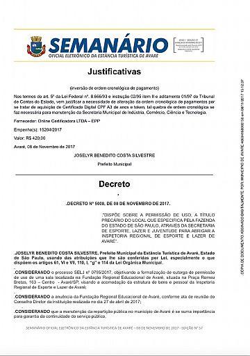 Semanário Oficial - Ed. 57
