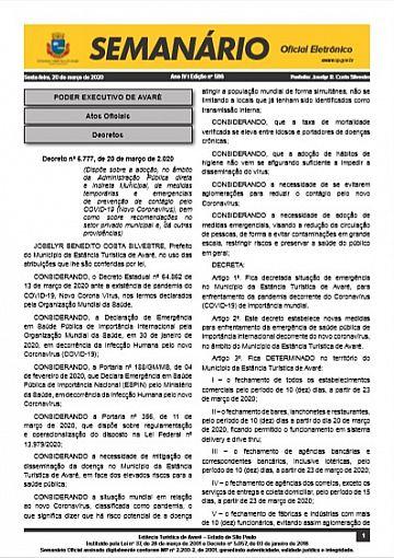 Semanário Oficial - Ed. 586