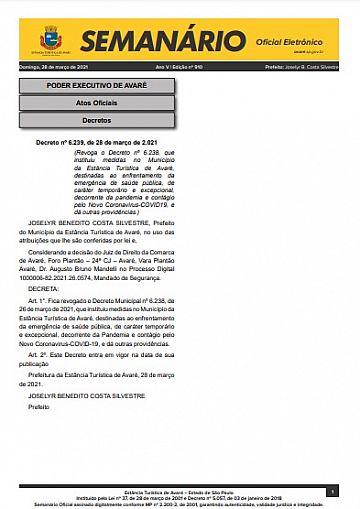 Semanário Oficial - Ed. 910