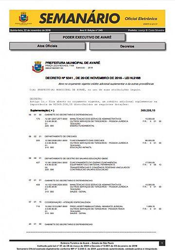 Semanário Oficial - Ed. 245