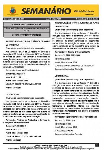 Semanário Oficial - Ed. 389