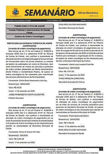 Semanário Oficial - Ed. 747