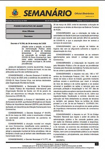 Semanário Oficial - Ed. 590