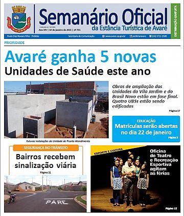 Semanário Oficial - Ed. 701