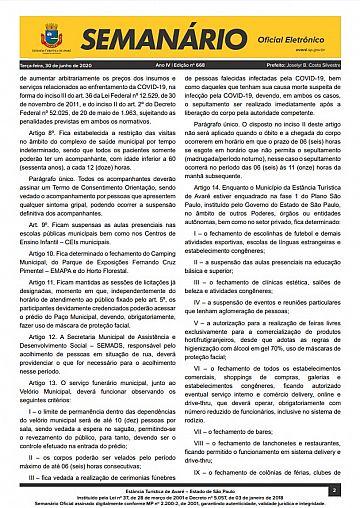 Semanário Oficial - Ed. 668