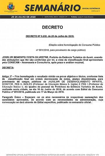 Semanário Oficial - Ed. 179