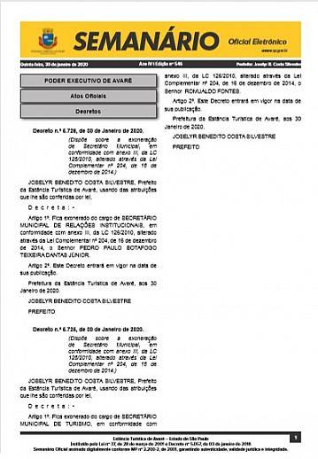 Semanário Oficial - Ed. 546
