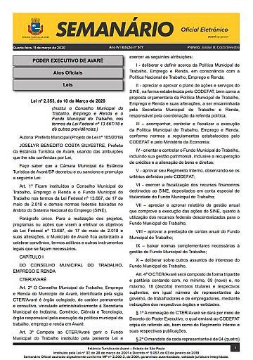 Semanário Oficial - Ed. 577