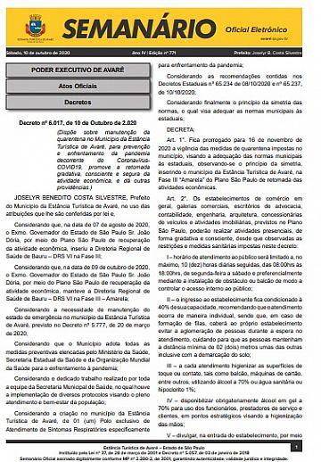 Semanário Oficial - Ed. 771