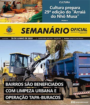 Semanário Oficial - Ed. 915