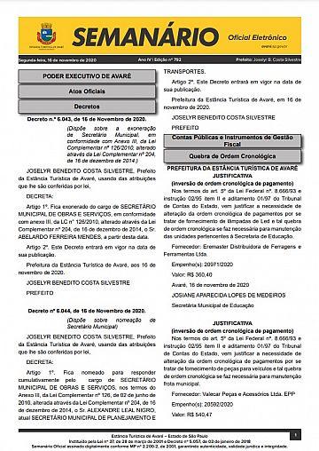 Semanário Oficial - Ed. 792