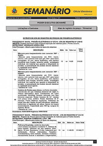 Semanário Oficial - Ed. 241