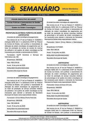 Semanário Oficial - Ed. 650