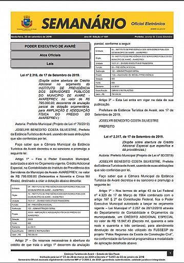 Semanário Oficial - Ed. 441