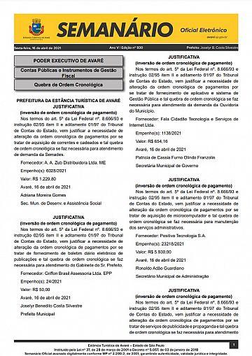 Semanário Oficial - Ed. 930