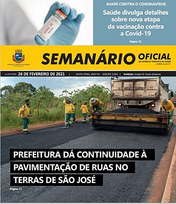 Semanário Oficial - Ed. 1003
