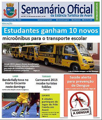 Semanário Oficial - Ed. 707