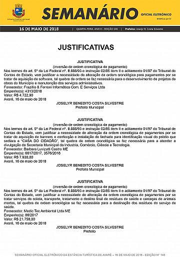 Semanário Oficial - Ed. 146