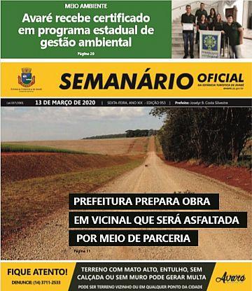 Semanário Oficial - Ed. 953