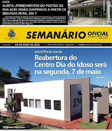 Semanário Oficial - Ed. 856