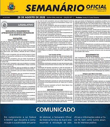 Semanário Oficial - Ed. 977