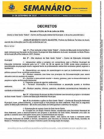 Semanário Oficial - Ed. 206