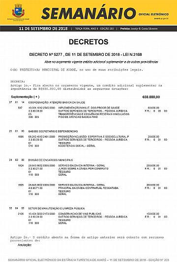 Semanário Oficial - Ed. 203
