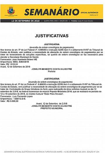 Semanário Oficial - Ed. 204