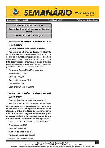 Semanário Oficial - Ed. 357