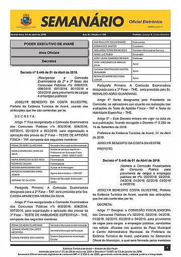 Semanário Oficial - Ed. 315