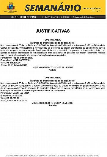 Semanário Oficial - Ed. 169