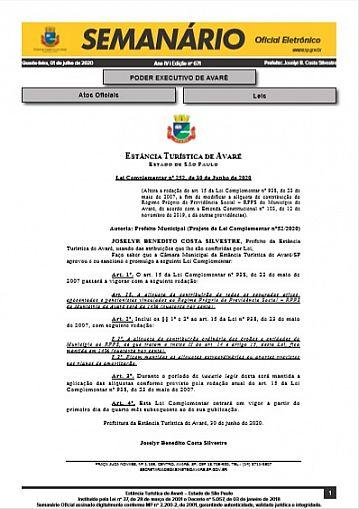 Semanário Oficial - Ed. 671