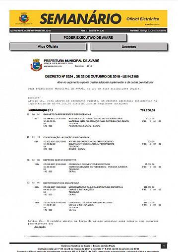 Semanário Oficial - Ed. 236