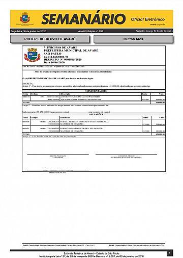 Semanário Oficial - Ed. 652
