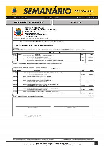 Semanário Oficial - Ed. 673