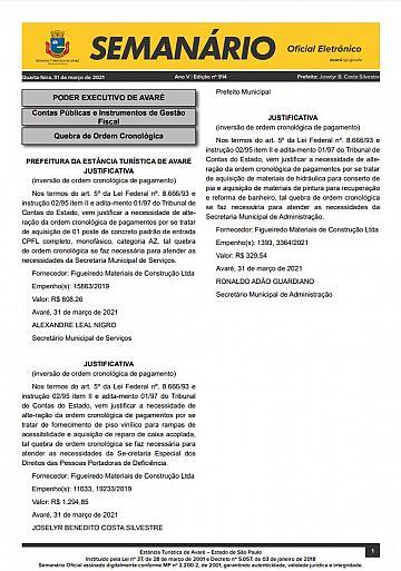 Semanário Oficial - Ed. 914