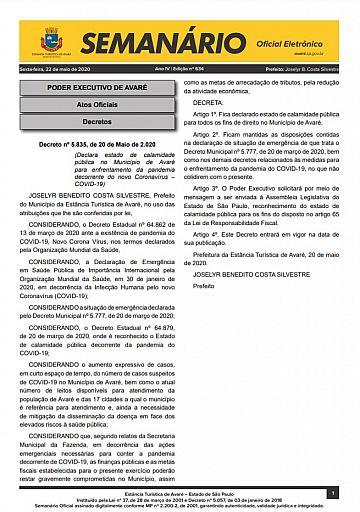 Semanário Oficial - Ed. 634