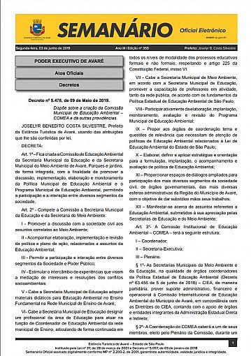 Semanário Oficial - Ed. 355