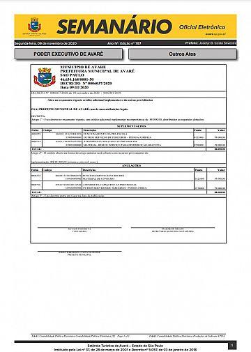 Semanário Oficial - Ed. 787